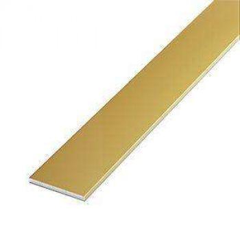 Алюминиевая полоса 20х2 Золото (длина - 3 м)