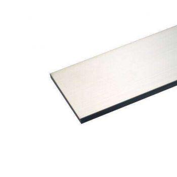 Алюминиевая полоса 25х2 Серебро (длина - 3 м)
