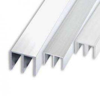 Алюминиевый профиль Ш-образный 266 Серебро (длина: 1-2 м)