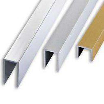 Алюминиевый швеллер 10х10х10х1,5 Золото (длина: 1-3 м)