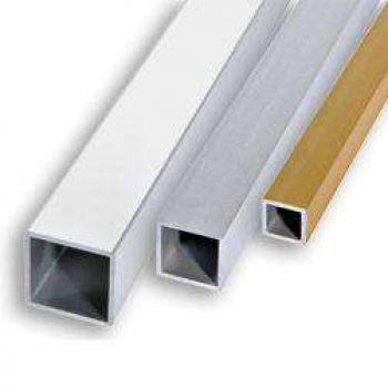 Алюминиевая труба квадратная 12х12х1,2 Серебро (длина - 3 м)
